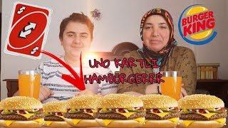 UNO KARTLI HAMBURGER YEME KAPIŞMASI-KİM PES EDECEK (LEZİZ VİDEO)