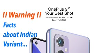 Warning about OnePlus 9 Variant Officially Sold in India