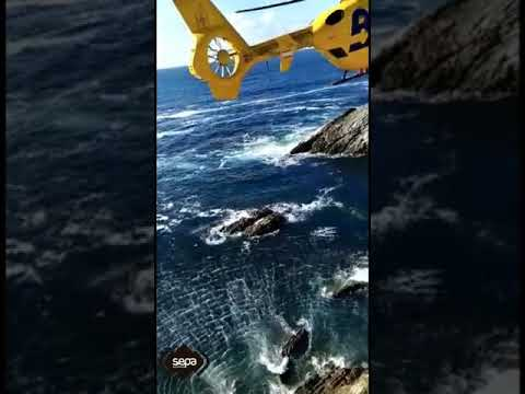 VÍDEO Espectacular rescate de los Bomberos Asturias en Cantabria