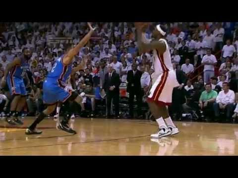 LeBron Clutch 3 with Leg Cramps (2012 NBA Finals Game 4)