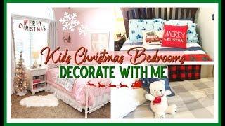 CHRISTMAS DECORATE WITH ME 2019   KIDS CHRISTMAS BEDROOM DECOR