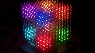 10x10x10  LED CUBE RGB (part2) *** The BIG  LED-SHOW ***(All light-shows are stored in the flash. While the show is running there is no connection to the computer necessary., 2016-01-10T06:06:19.000Z)