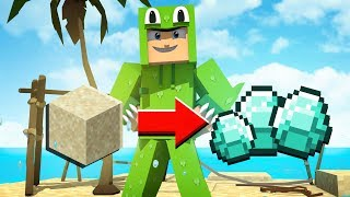STRANDED in Minecraft..but EVERY DROP is RANDOM!