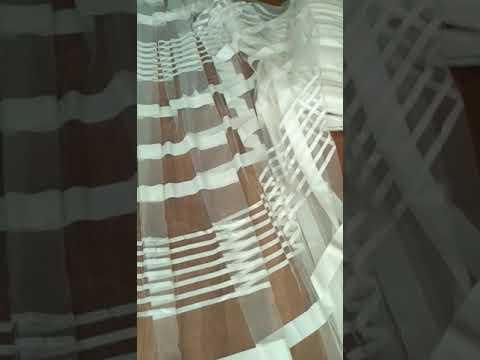 Тюль фатин полоска однотонная производство Турция (Rowi) . Оптом и в розницу.
