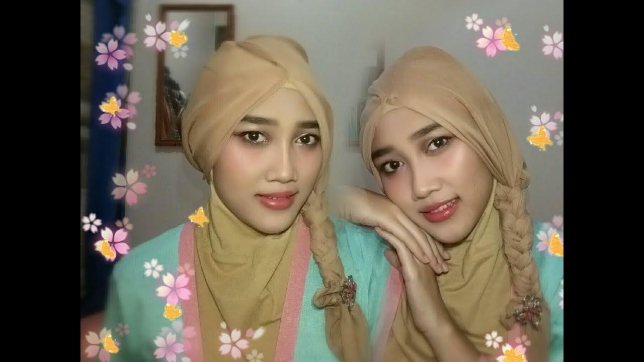 Tutorial Hijab Segiempat Kepang Selvyana Cintyananda Youtube