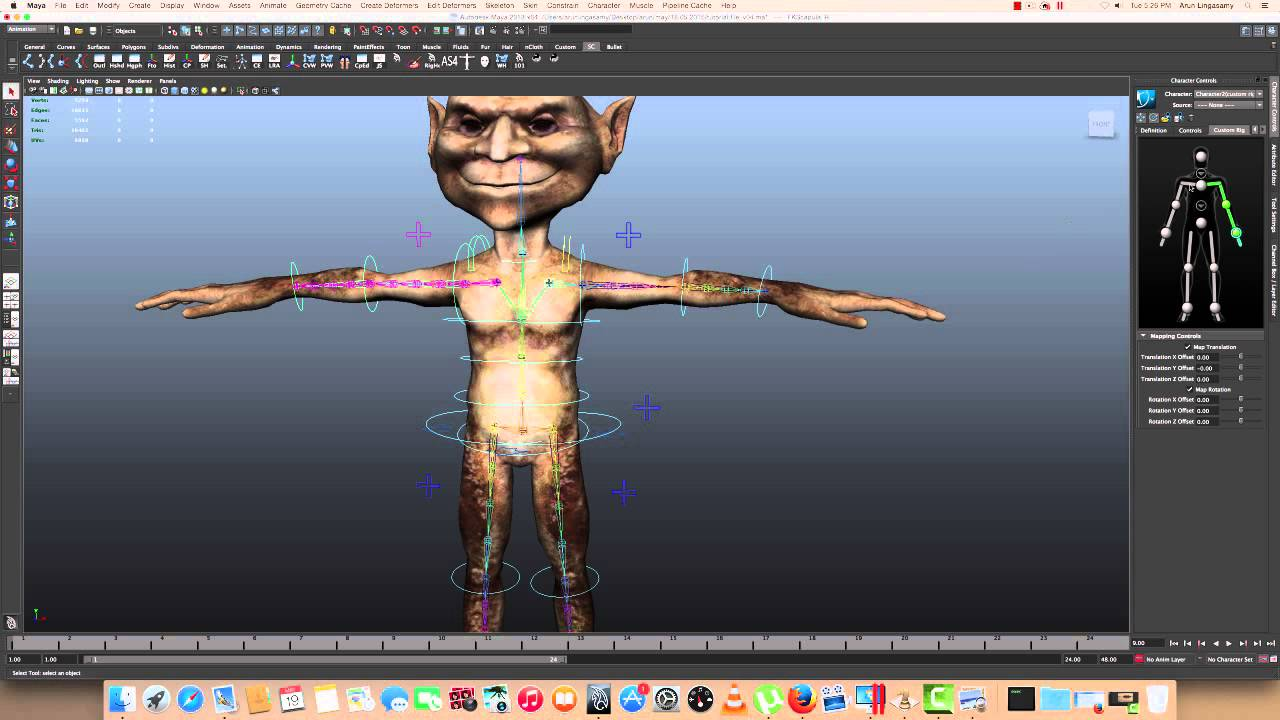 Applying Motion Capture Data to Custom Rigs in Maya - Lesterbanks