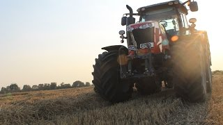 Żniwa 2015! Harvest in Poland! 2x Massey Ferguson, JCB, Claas + Night Sesion