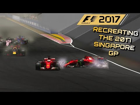 F1 2017 GAME: RECREATING THE 2017 SINGAPORE GP