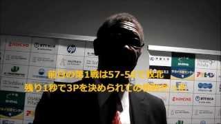 bjリーグ・大阪エヴェッサ ビル・カートライトHC会見(2013年4月28日)