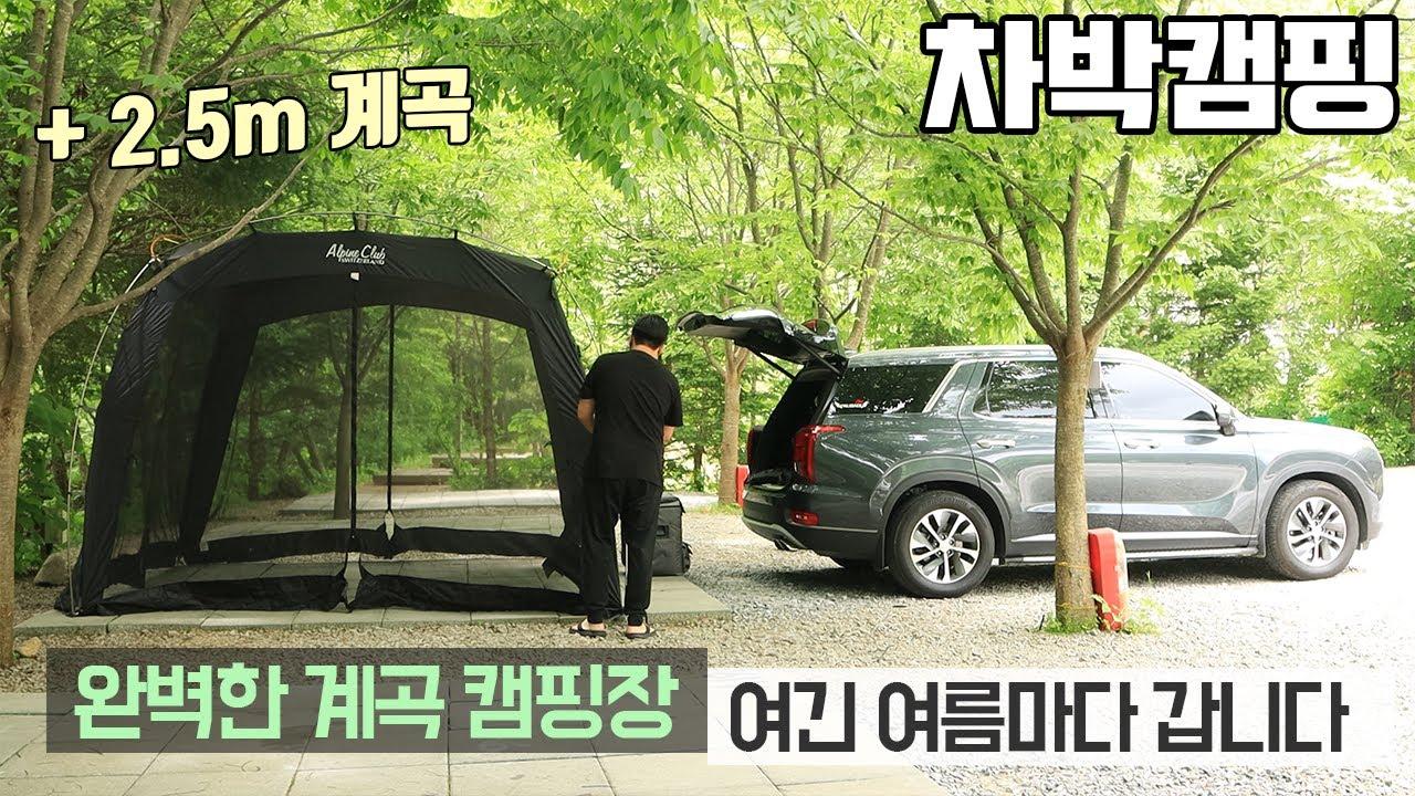 [바바TV] 차박 캠핑 - 우리가 여름마다 여길 찾는 이유 - 흥정계곡 캠핑 700 - 요릿 밀키트 - 보오글 풀세트 - 간편 캠핑요리 - 팰리세이드 차박 - Car camping