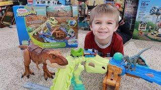 THOMAS & FRIENDS Adventures Dino-Blast Set Review + DINOSAURS!