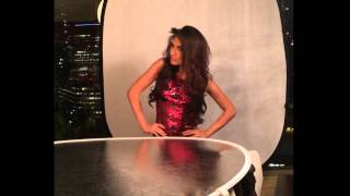 Shanzay Hayat - Miss Pakistan 2013 - Photo shoot - BTS