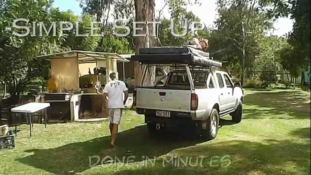 & Basic Camping Set Up - Roof Top Tent and Two Awnings - YouTube