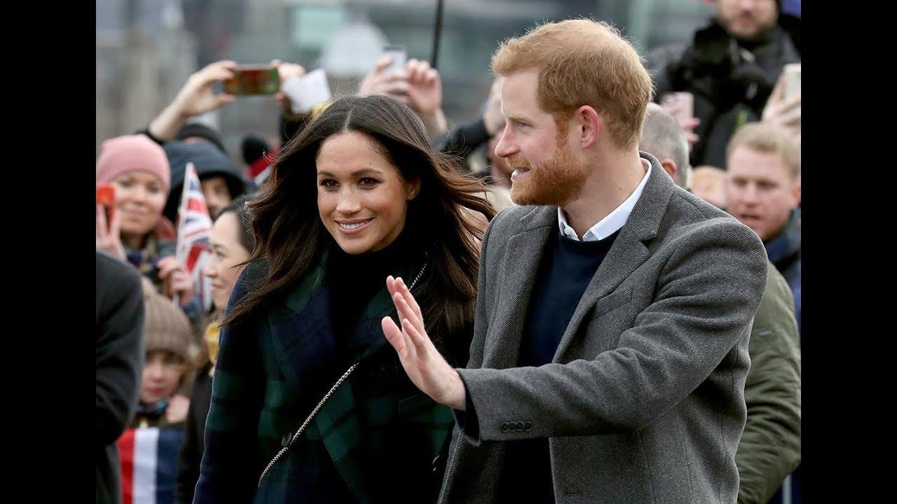 Prince Harry and tartan-clad Meghan Markle excite Edinburgh
