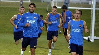 FC Barcelona: First training session in United States
