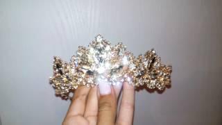 Чарівна новинка діадема під золото корона под золото диадема свадебная конкурсная