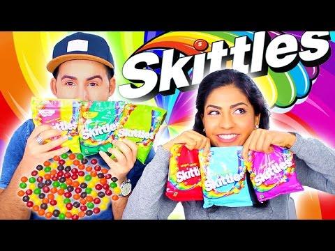 Crazy Skittles Flavor Taste Test!