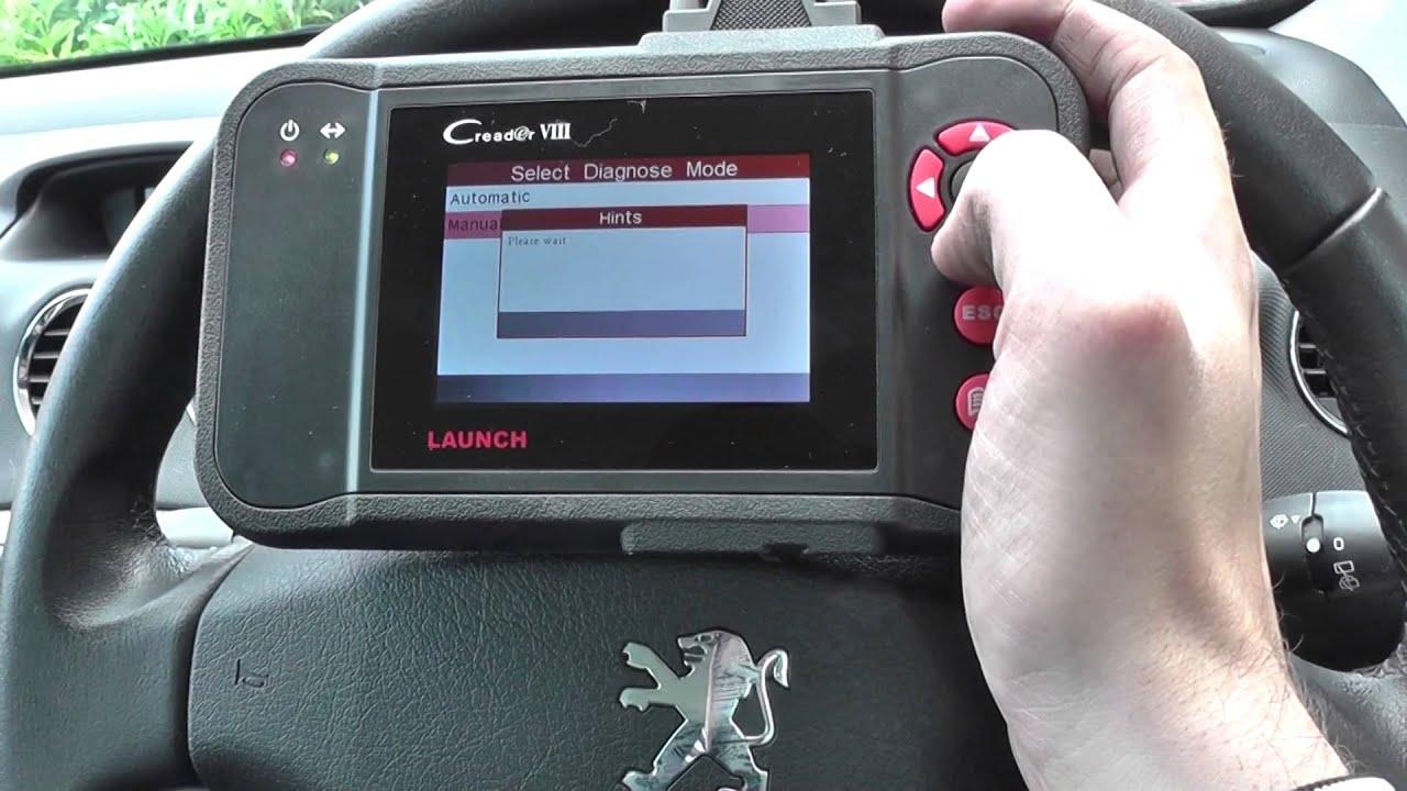 peugeot esp asr system fault abs braking fault diagnose reset dash light [ 1280 x 720 Pixel ]
