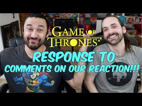 GAME OF THRONES Season 8 Premiere -  Response To Comments On Reaction!!!