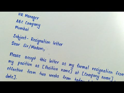 Write A Resignation Letter In English    Letter Writing    How To Write A Resignation Letter