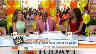 Al Roker Recieves Bacon Themed Rocket Fizz Basket