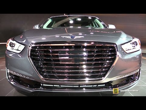 2017 Genesis G90 3.3T Exterior and Interior Walkaround 2016 Detroit Auto Show