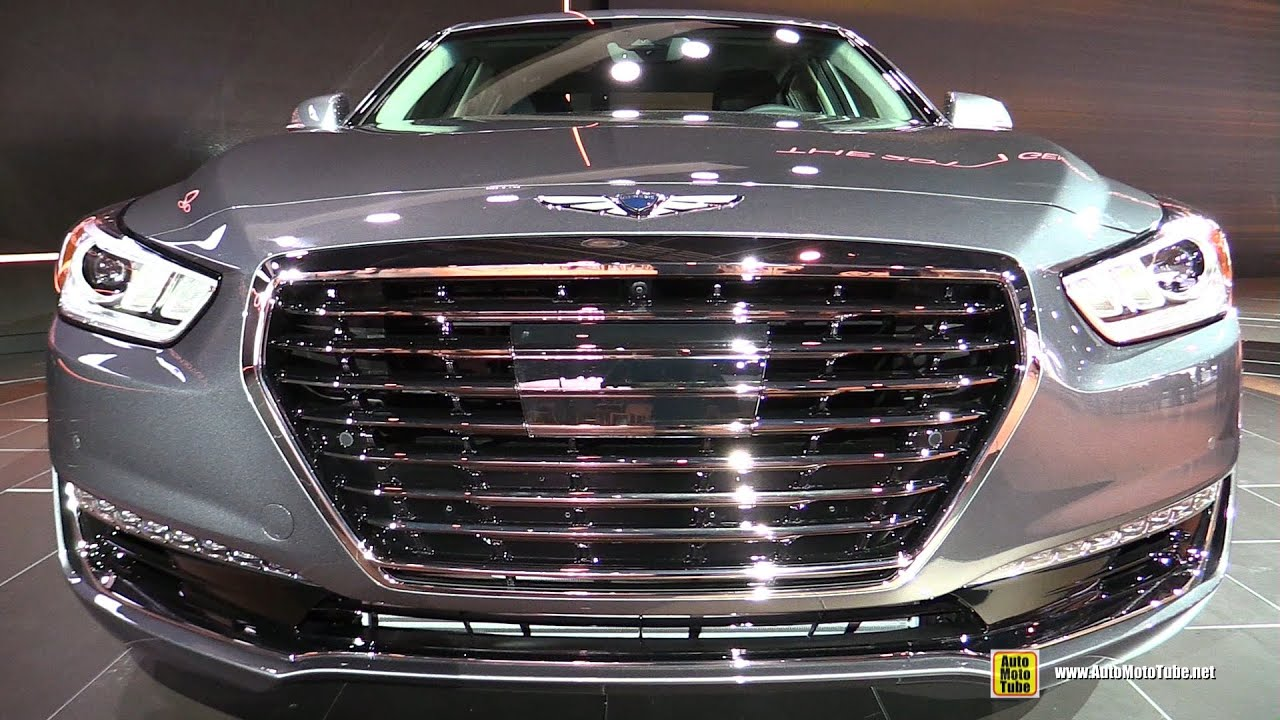 2017 genesis g90 3 3t exterior and interior walkaround. Black Bedroom Furniture Sets. Home Design Ideas