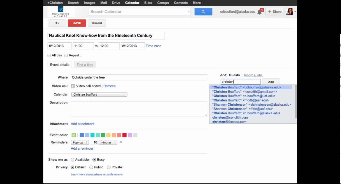 Schedule and Create A Google Hangout Using Google Calendar - YouTube