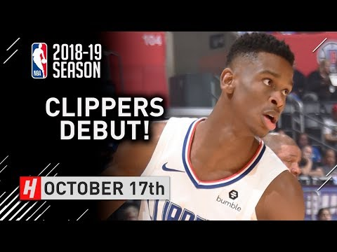 Shai Gilgeous-Alexander Official NBA Debut Full Highlights Clippers vs Nuggets 2018.10.17 - 11 Pts!