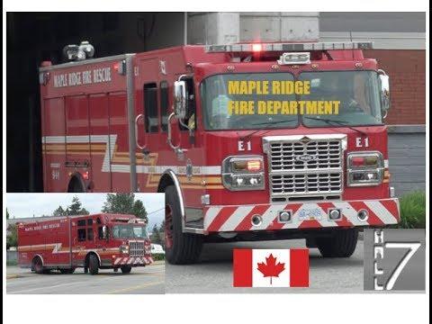 Maple Ridge Fire Department - Engine 1 & Rescue 1 Responding