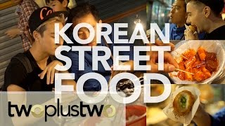 korean street food eating