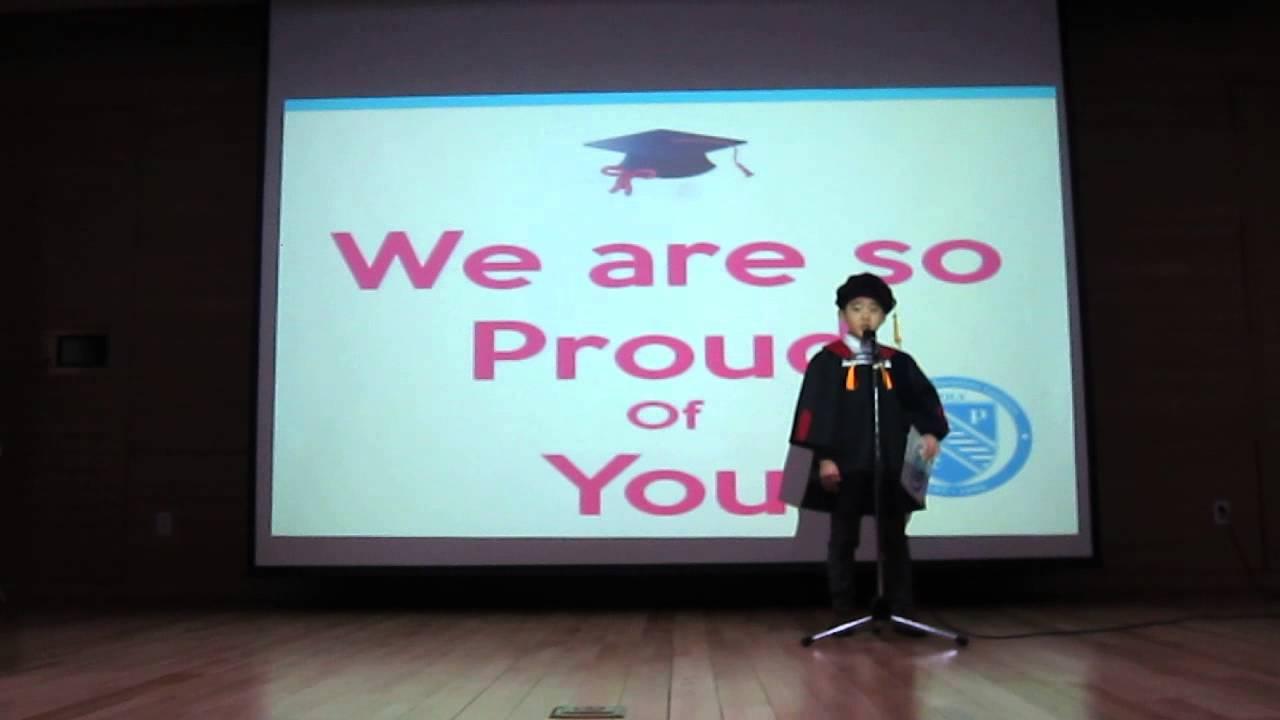 preschool graduation speech by kids