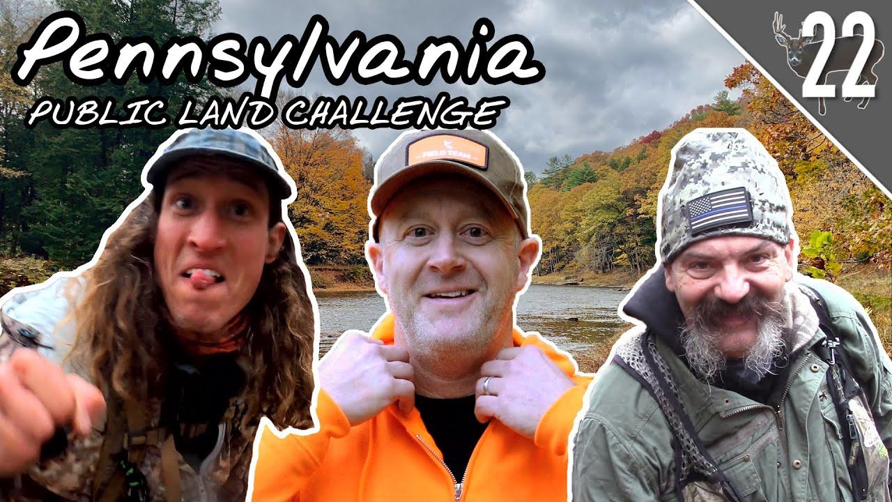 PENNSYLVANIA PUBLIC LAND CHALLENGE! - Day 1: CRAZY Buck Sign!