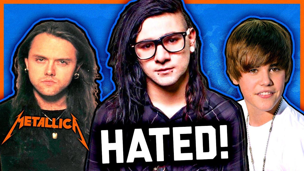 MOST HATED ARTISTS: Metallica, Skrillex & Justin Bieber