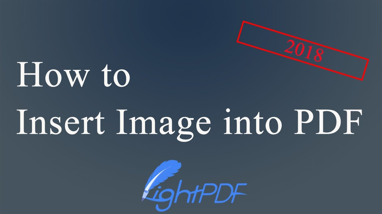 Top 3 Free Ways to Insert Image into PDF