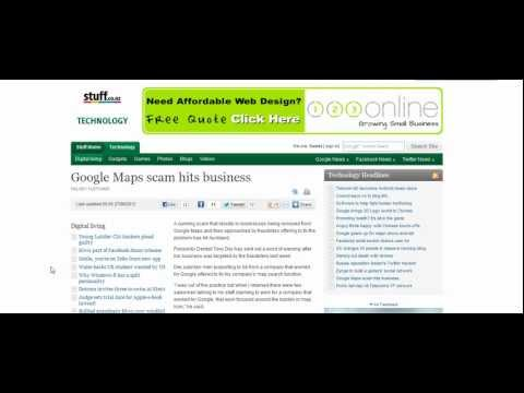 Google Maps Scam Hits NZ Businesses | OnPage1 Media
