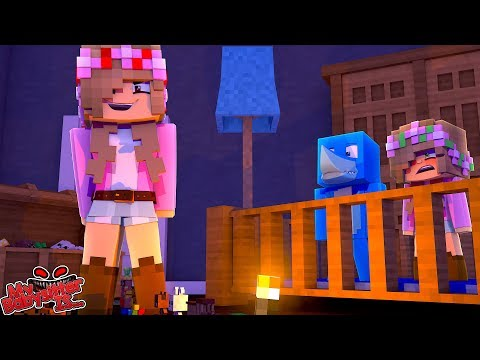 MY BABYSITTER IS..... EVIL LITTLE KELLY minecraft w/ Sharky and Little Kelly