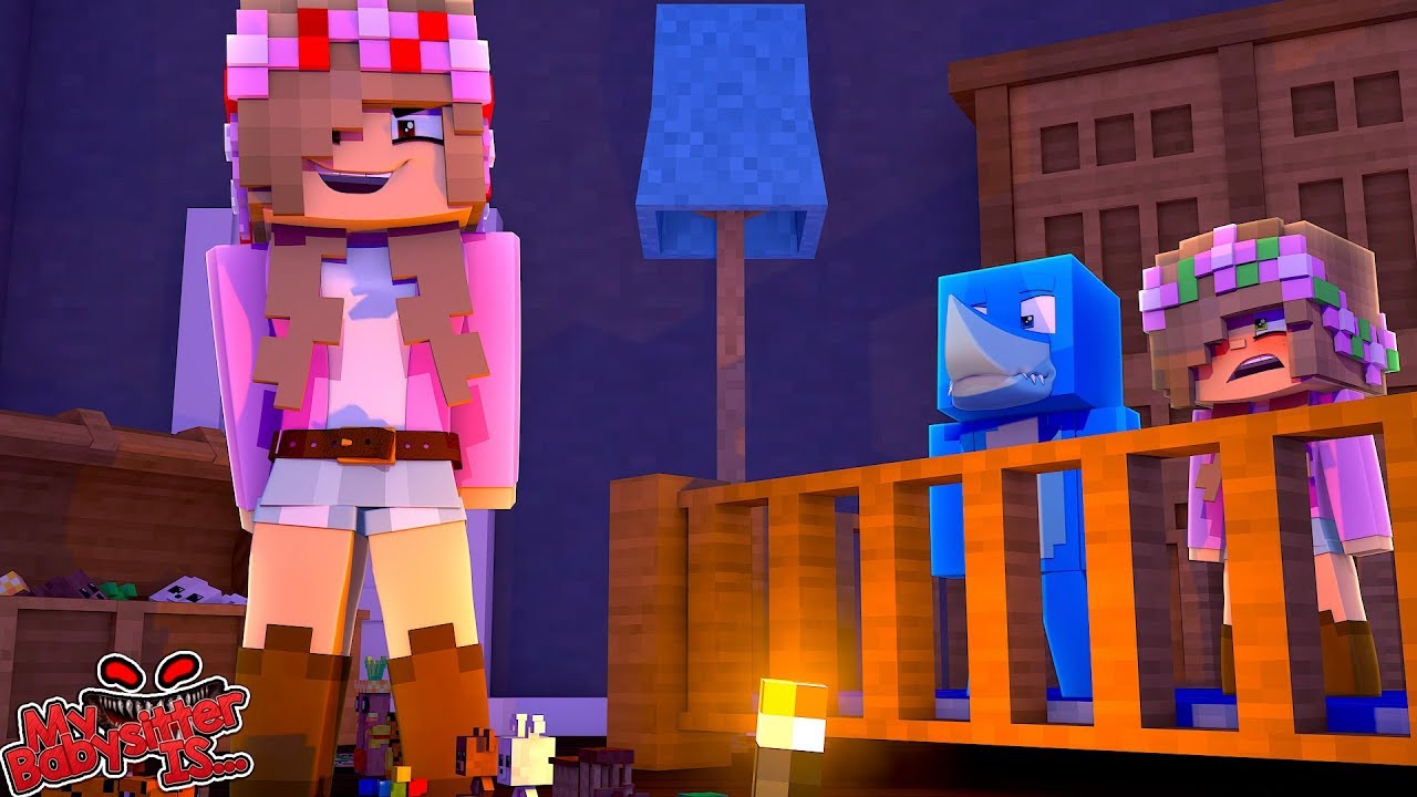 MY BABYSITTER IS….. EVIL LITTLE KELLY minecraft w/ Sharky and Little Kelly