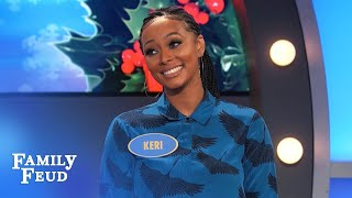 Keri Hilson on Family Feud! | Family Feud