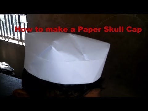 How to make a Paper Skull Cap || hands made paper hat - paper hat origami