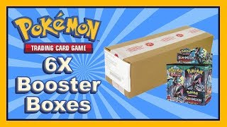 Opening 6 Pokemon Guardians Rising Booster Boxes! (entire case)
