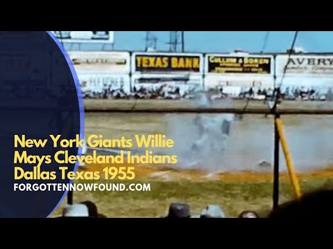 Found Footage: 1955 NY Giant Vs Cleveland Indians Dallas Texas Burnett Field