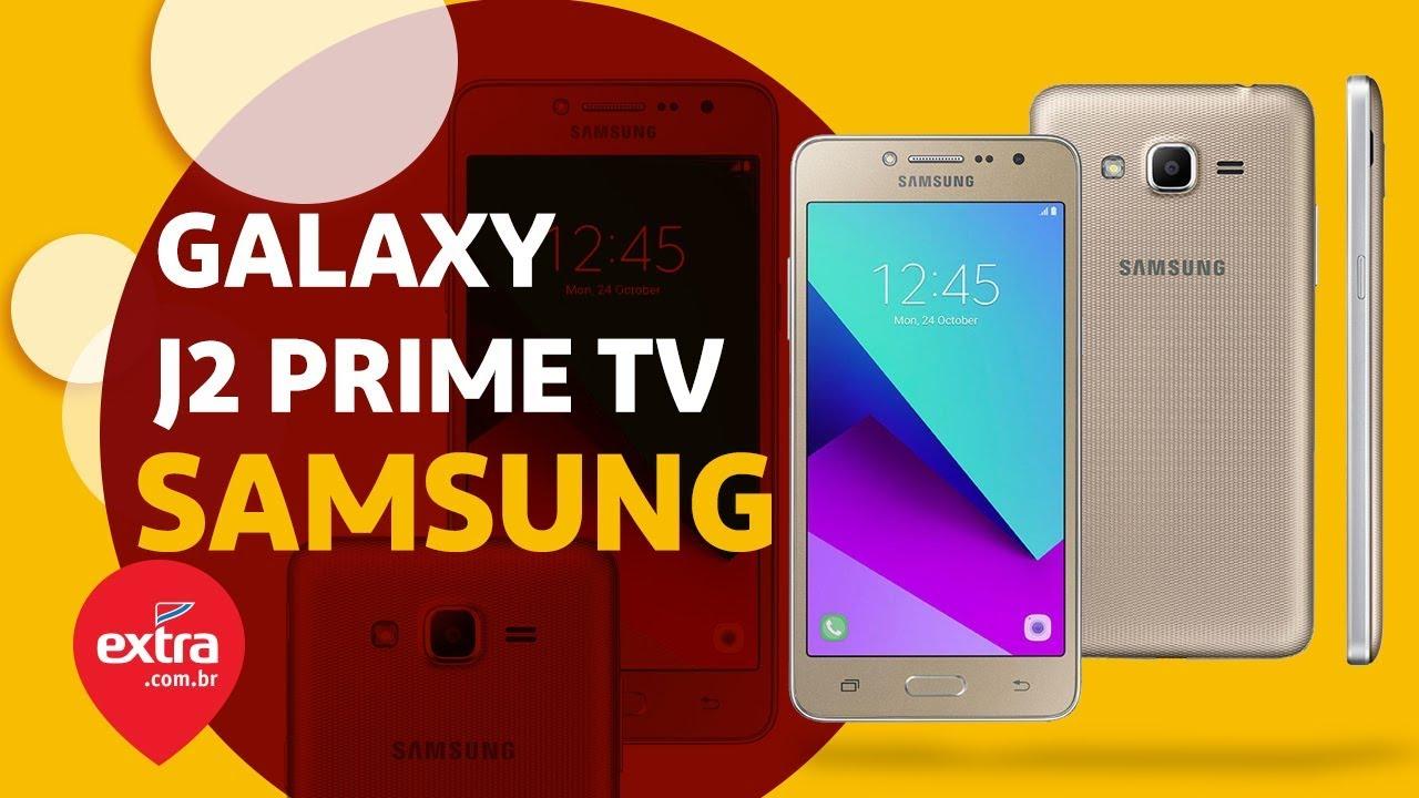 7a82a993b Smartphone Samsung Galaxy J2 Prime TV Dourado com 16GB, Dual Chip, Tela 5