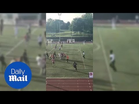 Amateur referee attacked by players in London Turkish Cup - Daily Mail