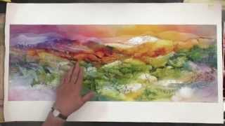 How to use Gauze in Your Watercolor Paintings