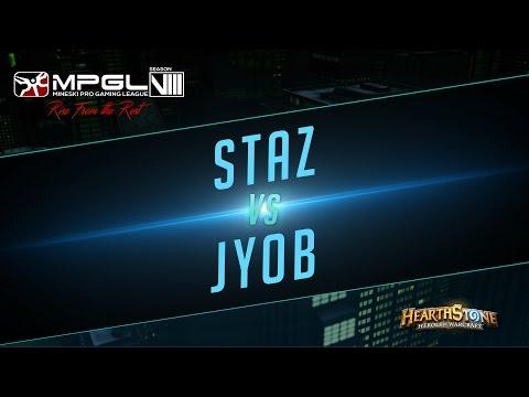 Staz vs Jyob - Mineski Pro Gaming League Season 8 Hearthstone [Quarterfinals]