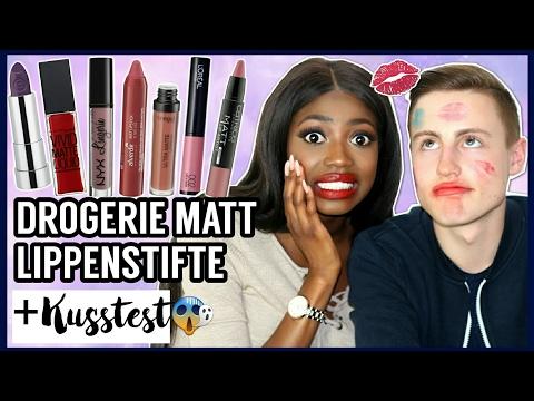 DROGERIE Matte LIPPENSTIFTE Live test + KUSSTEST 💋 mit meinem FREUND   DM Haul Review