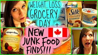 WEIGHT LOSS GROCERY DAY HAUL + NEW CANADIAN JUNK FOOD FINDS! July 3rd 2017