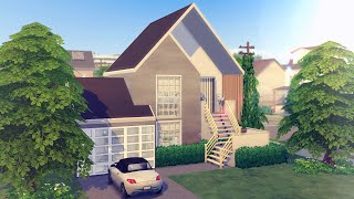 SMALL IKEA STYLE HOUSE  • SIMS 4 NO CC | Stop Motion Speed Build