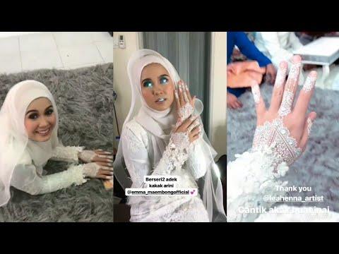 Cantik berseri-seri Emma Maembong pakai baju pengantin | Jangan Padam Rindu